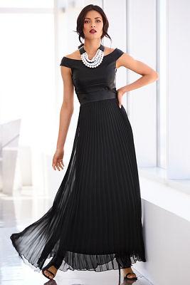 Vegan leather pleated maxi dress