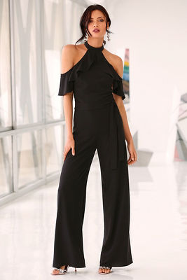Lace back ruffle jumpsuit