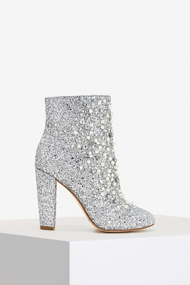 Glitter and pearl bootie