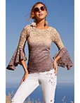 Glitter Ombre Lace Top Photo