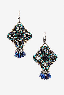 Jeweled stone earrings