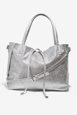 Metallic casual tote bag