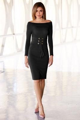 Off-the-shoulder corset dress