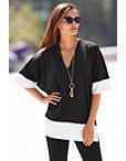 Travel Colorblock V-neck Tunic Top Photo