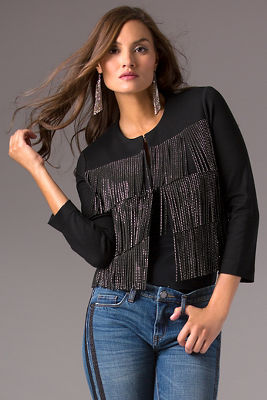 Jeweled fringe jacket