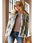 Multicolored Faux-fur Jacket Photo