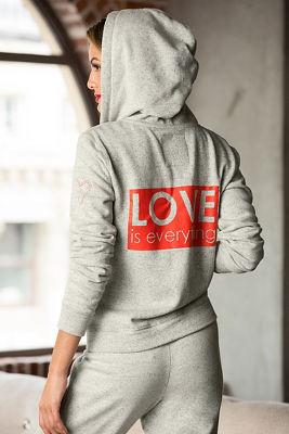 Love zip-front hoodie