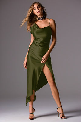 Satin drape dress