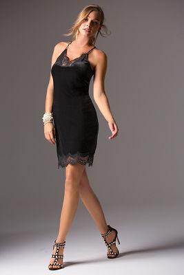 Lace and velvet slip dress