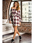 Off-the-shoulder Plaid Tie Dress Photo
