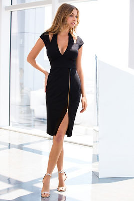 Cutout zipper sheath dress