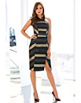 Mitred Stripe Sheath Dress Photo