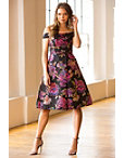 Colorful Brocade Pleated Dress Photo
