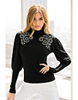 Scroll Embellished Sweater Photo