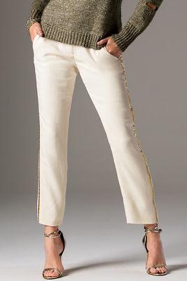Stud embellished trouser pant