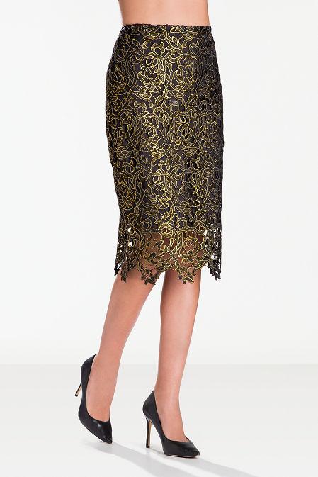Lace detail pencil skirt image
