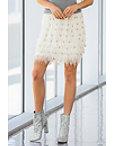 Jewel Feathered Mini Skirt Photo