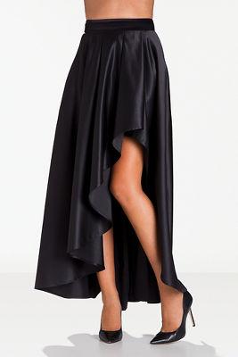 Hi-lo ball gown maxi skirt