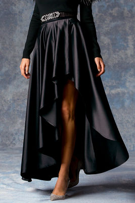 Hi-lo ball gown maxi skirt
