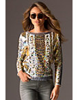 Long Sleeve Dazzle Woven Top Photo