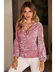 Velvet Ruched Top Photo