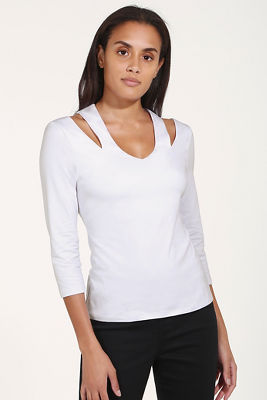 So Sexy™ shoulder slit top