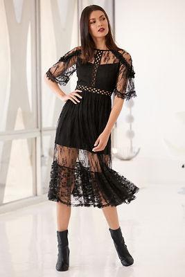 Illusion mesh dress