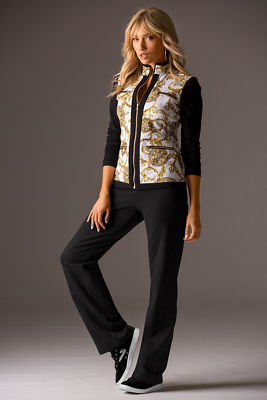 Medallion print two-piece warm-up set