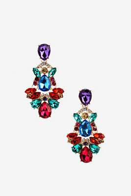 Multicolor jewel earrings