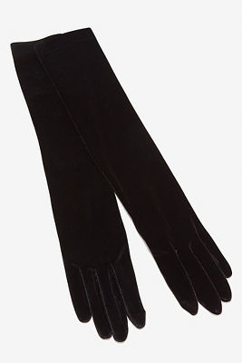 Elbow length velvet gloves