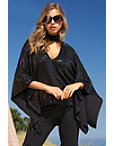 Sequin Choker Poncho Knit Top Photo