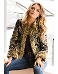 Leopard Faux-fur Trim Jacket Photo