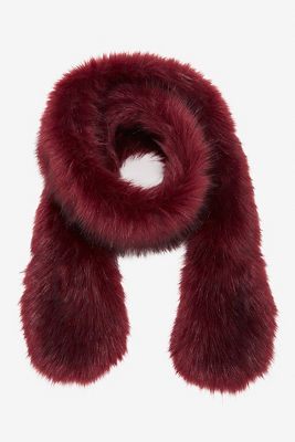 Faux-fur scarf