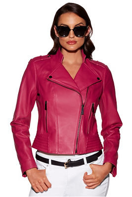 Display product reviews for The Proper™ leather moto jacket
