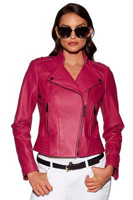 The Proper™ leather moto jacket