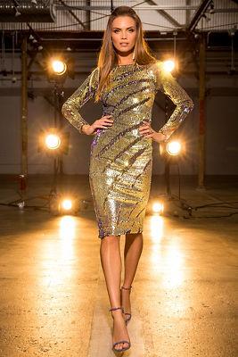 Multicolored sequin dress 2713090500