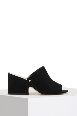 block heel mule slide