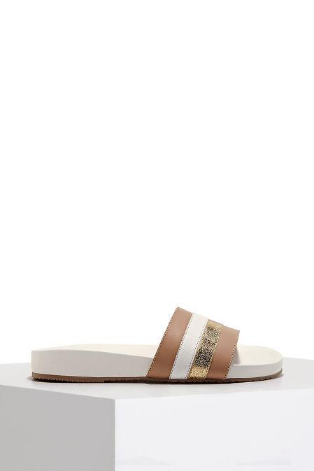 Multistripe beach slide sandal image