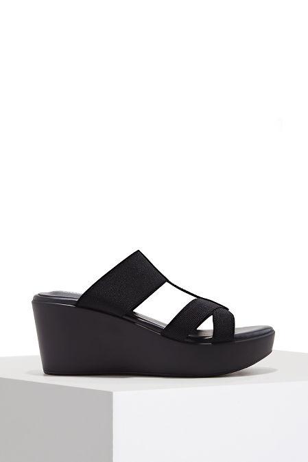 Elastic slide wedge heel image