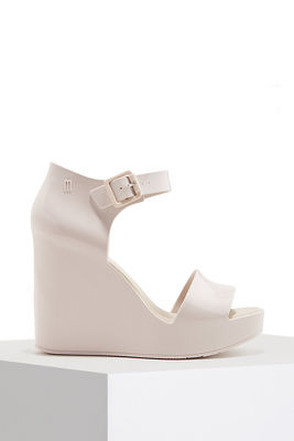 Ankle buckle wedge heel