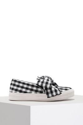 Gingham slip-on sneaker