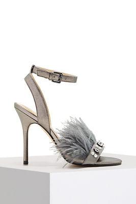 Feather detail heel