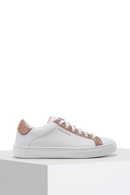 Glitter trim lace-up sneaker