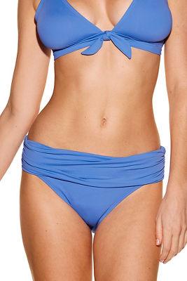 Shirred banded hipster swim bottom