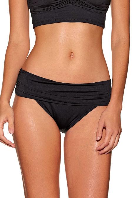 Shirred banded hipster swim bottom image