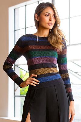 Multicolored stripe sweater