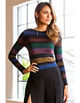 Multicolored Stripe Sweater Photo