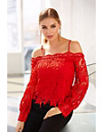 Chunky Lace Cold-shoulder Top Photo