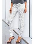 Printed Foil Skinny Jean Photo