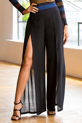 Open pleat pant